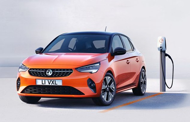 Vauxhall Corsa-E Electric (pictured) is built inZaragoza, Spain, despite its British Vauxhall badge