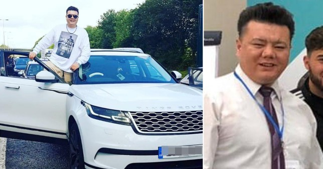 Lyfcoin UK ringleader Sakhi Rezaie with a white Range Rover