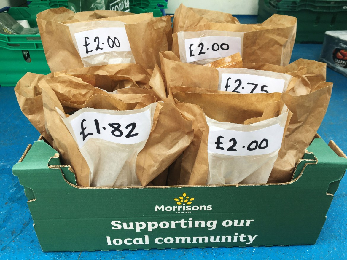 Morrisons has been praised for its pre-made packs of food and hygiene products for food banks