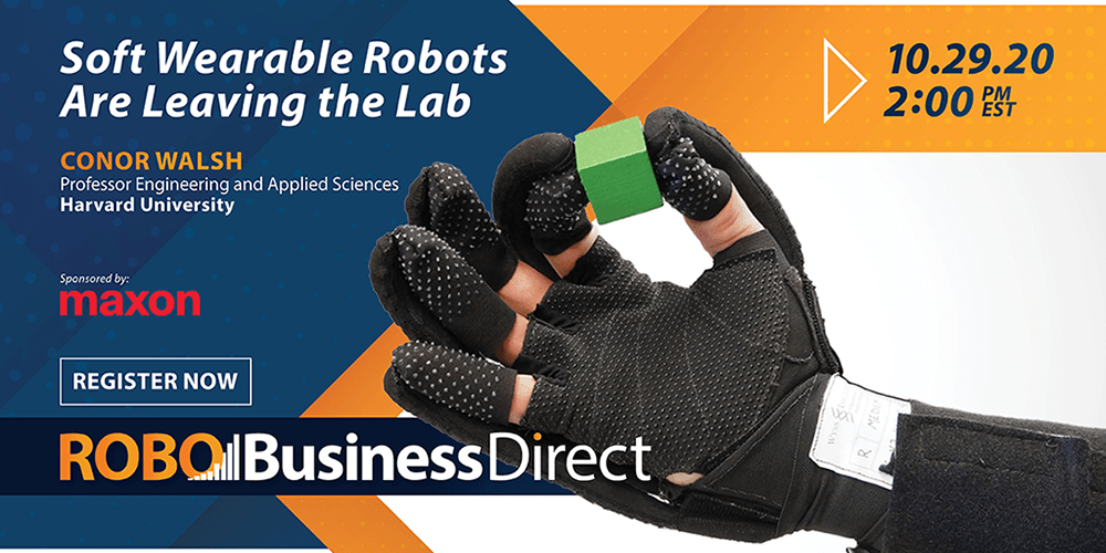 Soft Wearable Robots Are Leaving the Lab – RoboBusiness Direct Session October 29th