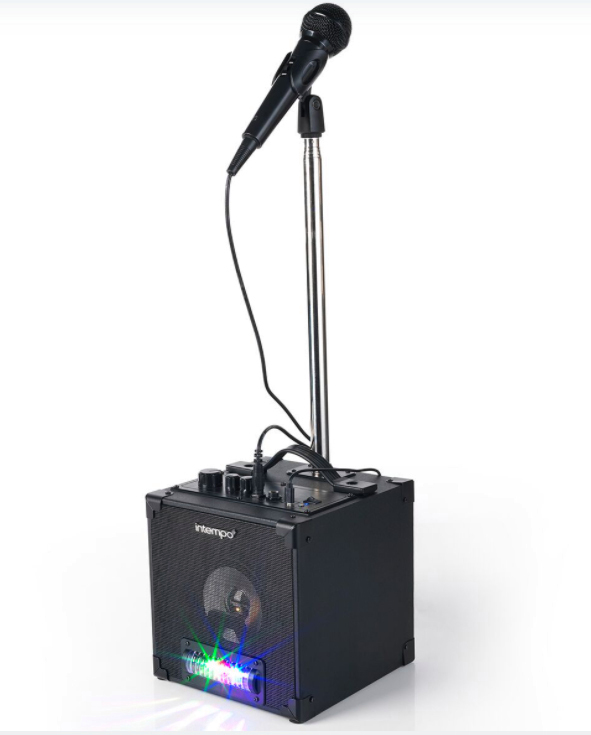Sing your heart out at home with an Intempo Portable LED Karaoke Bluetooth Speaker
