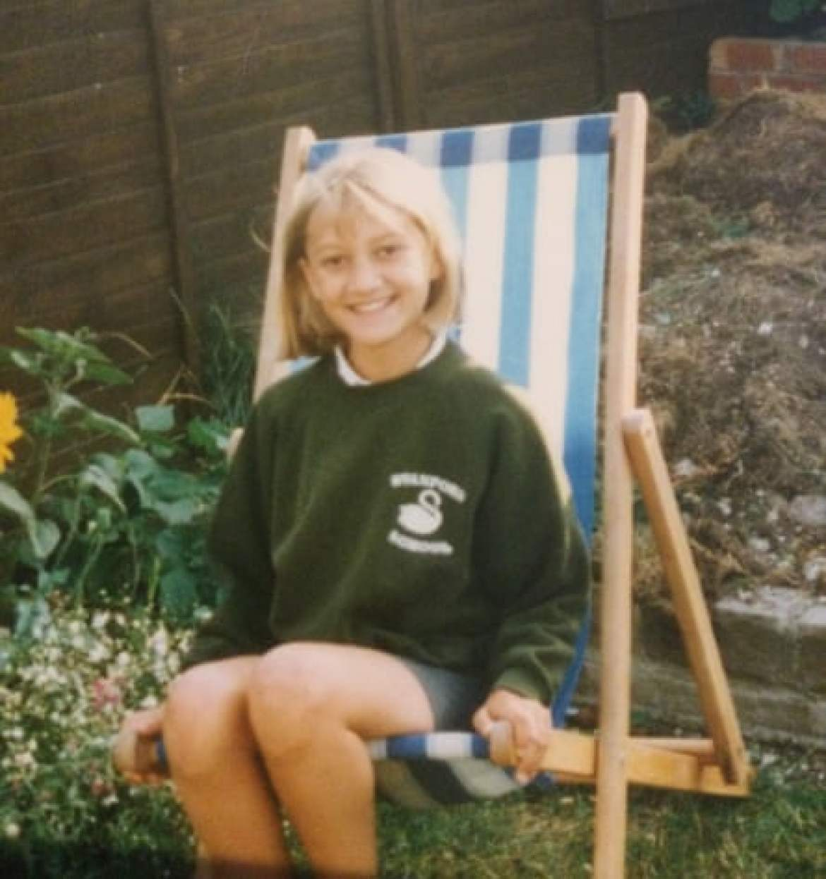 Jenny, aged about 10, soon after her family were rehoused, in Brighton.