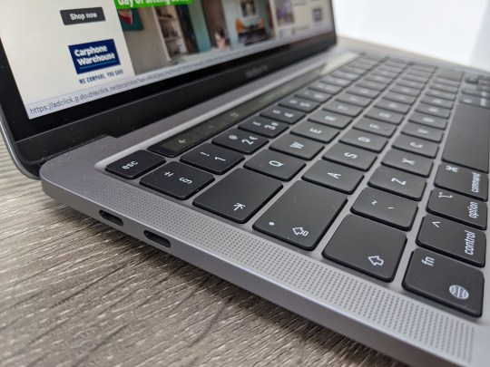 MacBook Pro seen from the side