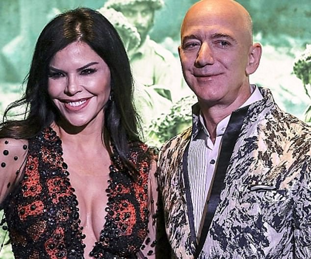 Chump change: Amazon boss Jeff Bezos (pictured with news presenter girlfriend Lauren Sanchez) sold 1m shares netting £2.3bn, according to regulatory filings