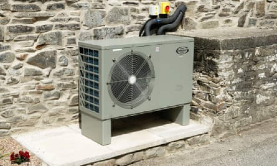 An air source heat pump.