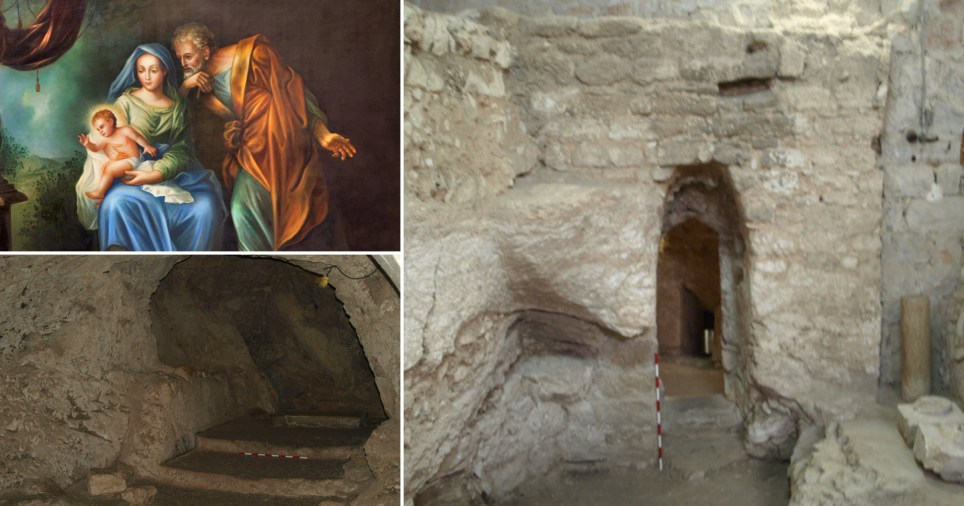Archaeologists believe they've discovered the childhood home of Jesus Christ where he was raised by Mary and Joseph (Credits: Ken Dark)