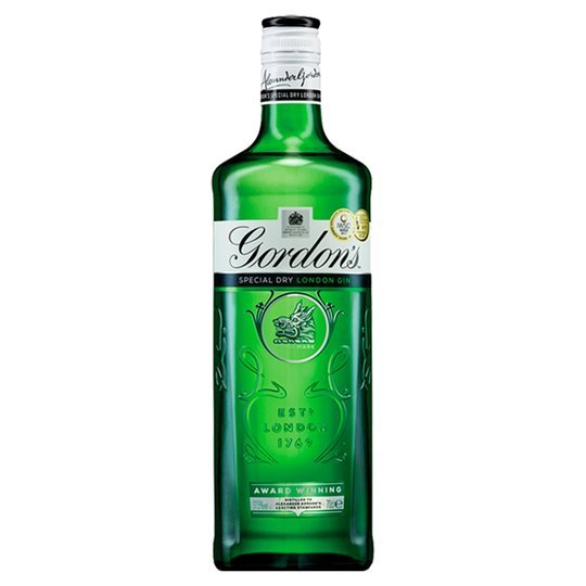 A 70cl bottle of Gordon's gin is £15.50 at Tesco