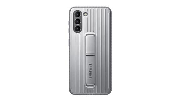 Galaxy S21 5G Rugged Protective Case in Silver