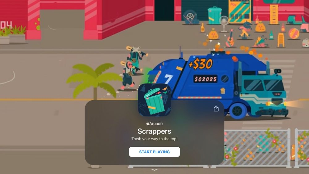 Apple Arcade new game 4/10 Scrappers