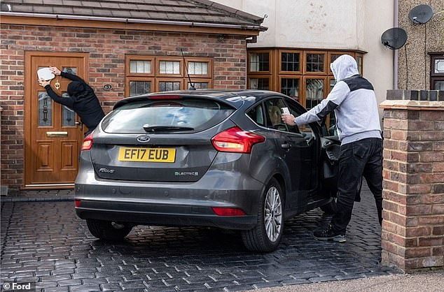 The Ford Focus was the fourth most commonly pinched model, according to DVLA records given to Rivervale Leasing
