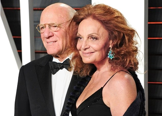 Safe bet: MGM's largest shareholder Barry Diller (pictured with fashion designer wife Diane von Furstenberg) is said toview Ladbrokes-owner Entain as vital to MGM's growth