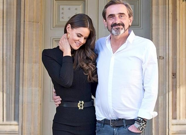 Superdry boss Julian Dunkerton (pictured with wife Jade Holland Cooper) has insisted he is optimistic about a post-pandemic recovery on Britain's high streets