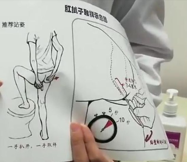 Health authorities in China are using anal swabs to test residents for Covid