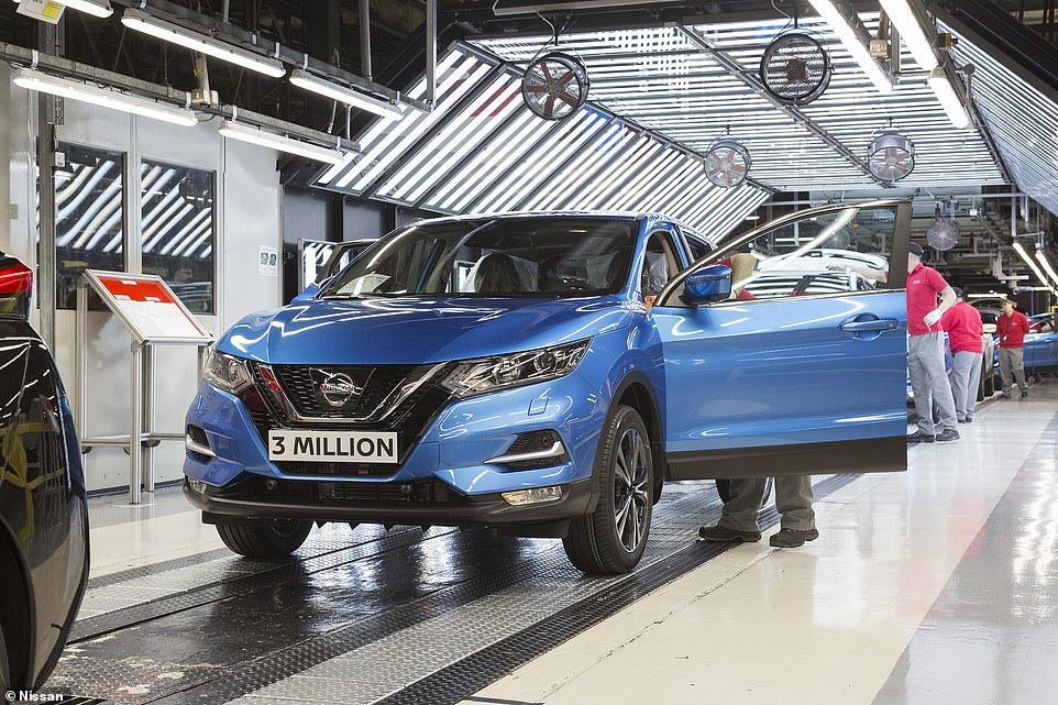 Sunderland has built crossovers for Nissan since December 2006 when the first generation Qashqai rolled off the production line, with the second generation (pictured) following from 2014