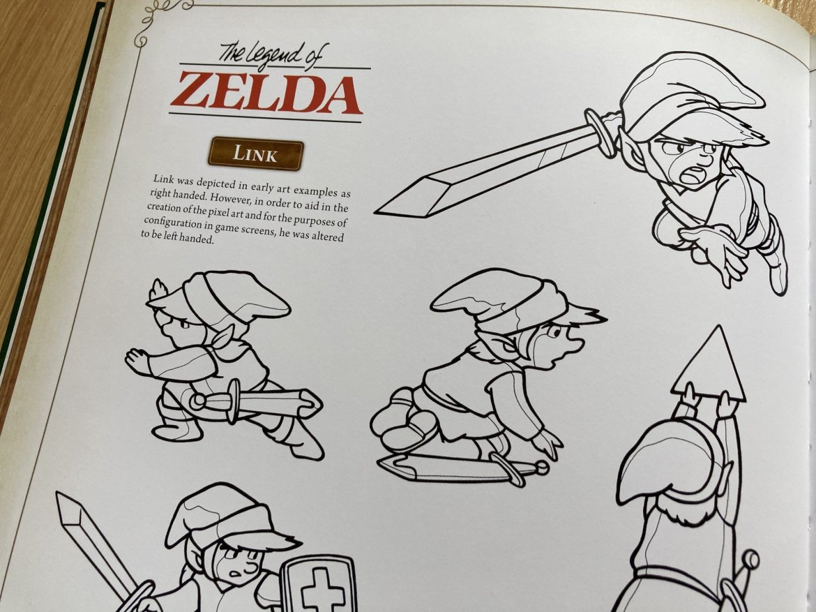 Some design materials as seen in Dark Horse's excellent Hyrule Historia.