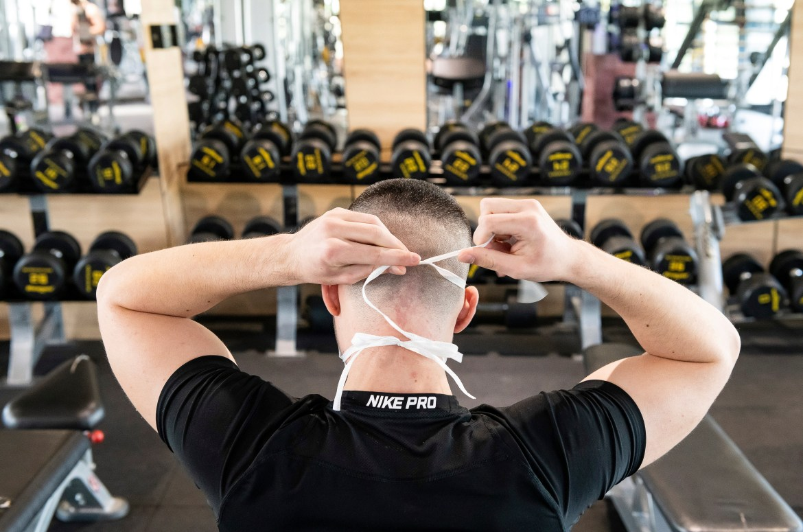 Masks should be worn inside gyms - once they reopen after the third coronavirus lockdown