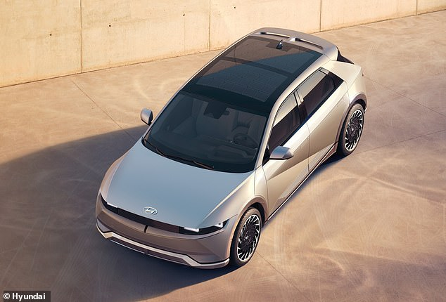 It also has vehicle-to-grid charging, which means that the car can not only become a mini generator to power devices but also push electricity back into the grid when not in use