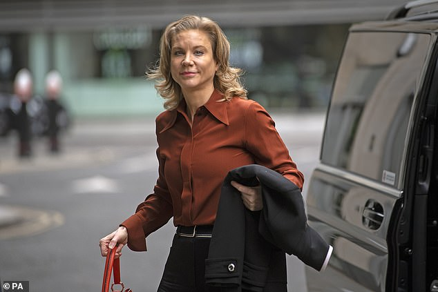 Amanda Staveley seenarriving at the Rolls Building in London to give evidence in her High Court battle with Barclays