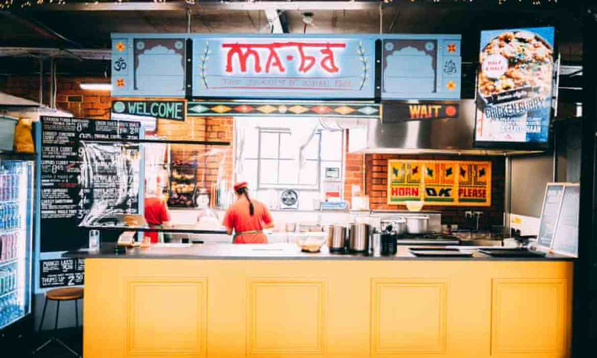 Maba street food venue at the The Cutlery Works in Sheffield.