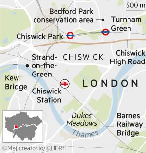 Map of Chiswick, London