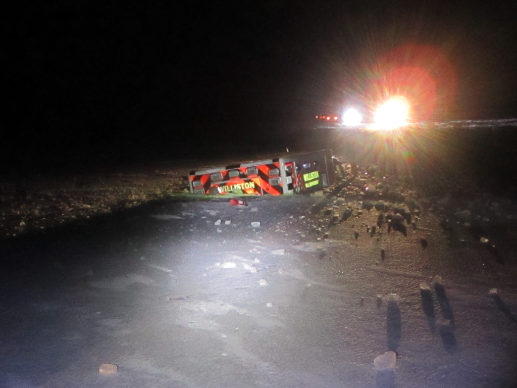 A Williston Fire Department ambulance in North Dakota crashed in icy water on Thanksgiving night 2019.