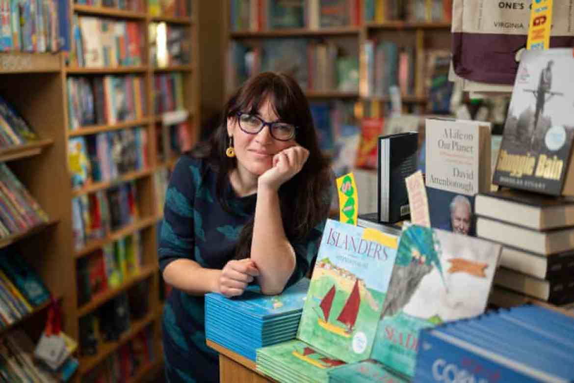Alice Harandon, manager of the St Ives Bookseller in Cornwall, inside the shop