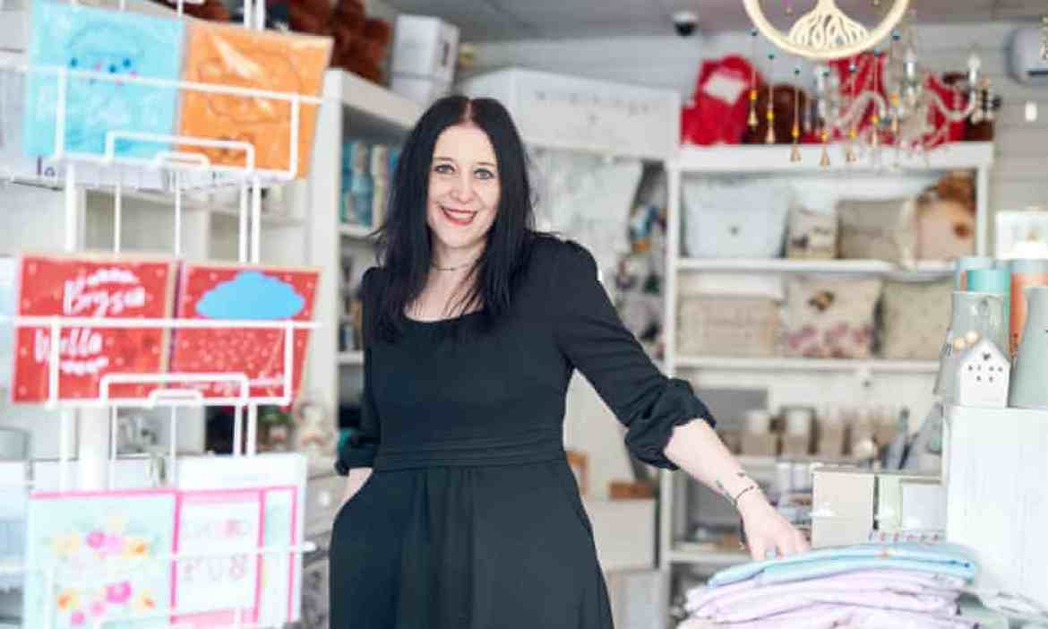 Alison Chapman, owner of Wonder Stuff gift shop inTreorchy, south Wales.