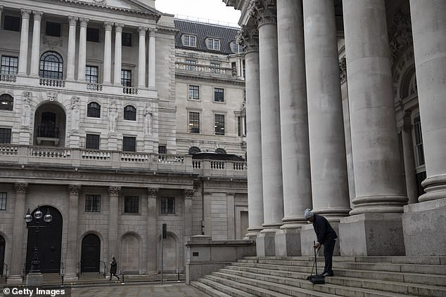 Rich pickings: A Bank of England survey published in November found that 42 per cent of the country's wealthiest households had seen their savings increase in the last 12 months