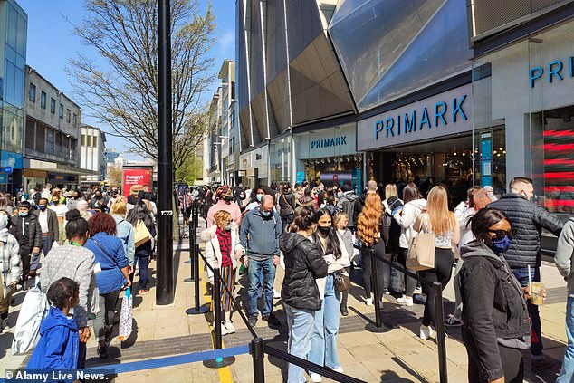 Surge: Shoppers have been flooding back to the shops since the easing of lockdown restrictions