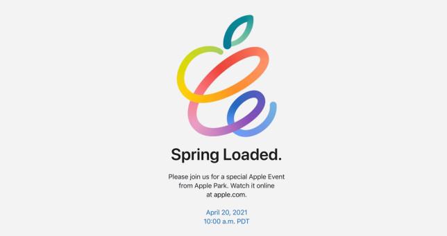 Apple is hosting its spring 2021 event on April 20 (Apple)