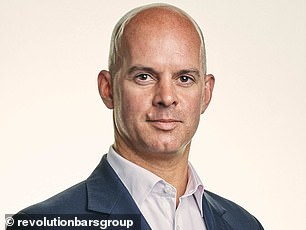 Relief: Revolution Bars boss Rob Pitcher