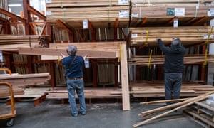 A Home Depot store in Pleasanton, California, U.S, as lumber prices soar