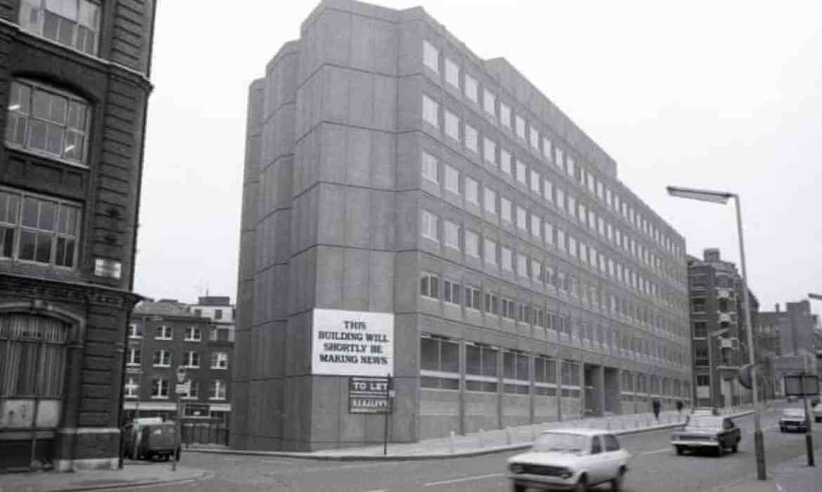 119 Farringdon Road, shortly before the Guardian moved in.