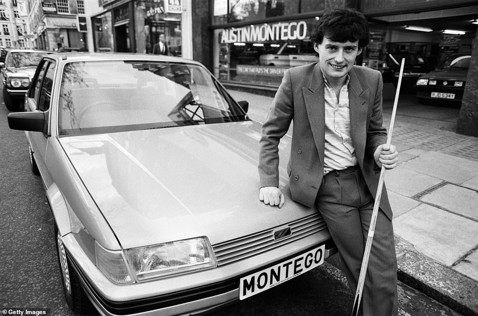 Snooker player Jimmy White poses beside the Austin Montego as the new model hit the market. Picture taken on 11 May 1984