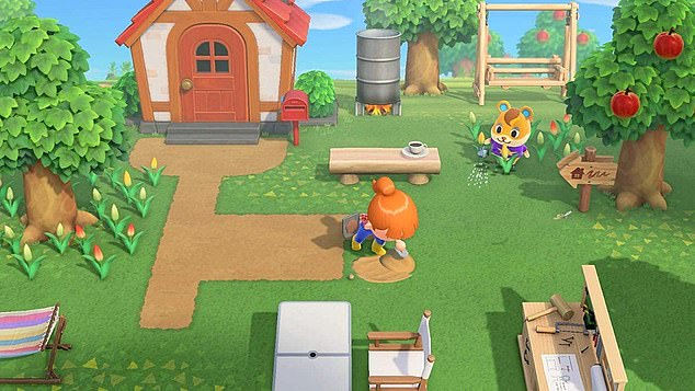 Much of the Switch's success has been attributed to 'Animal Crossing: New Horizons', (pictured), released in March 2020, as countries around the world began implementing lockdowns to combat the spread of COVID-19