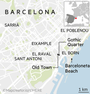WKD Travel - Barcelona map