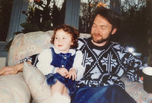 Daddy's girl: Eve Simmons pictured with her father. She was asked by a therapist to 'face her trauma' – but found it upsetting