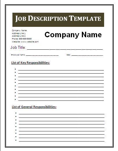 download project manager doc download. job description template 47 ...