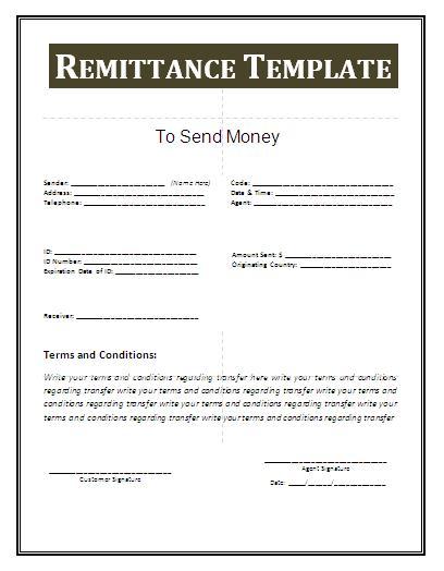 remittance free