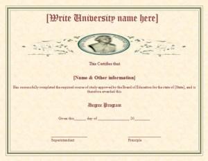 Degree Certificate Template