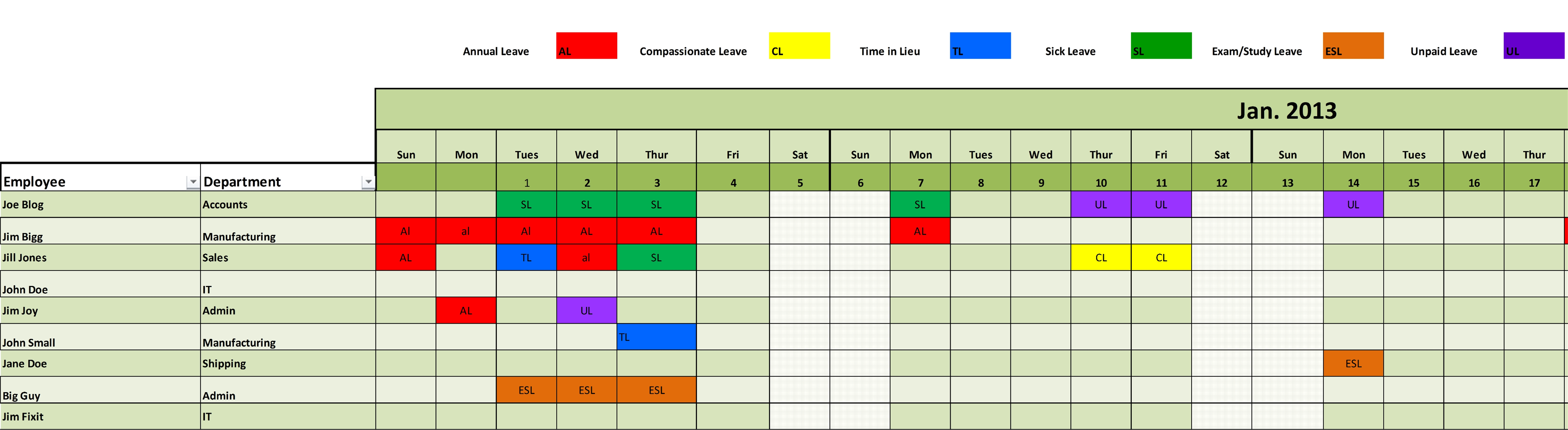 Search Results For Employee Vacation Tracker Template
