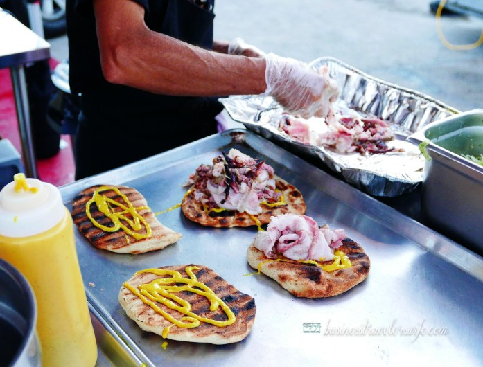 How Our Road Trip to Montreal Turned Into a Food Trip Grill Food Trucks Camion Au Pied De Cochon Bacon Sandwich