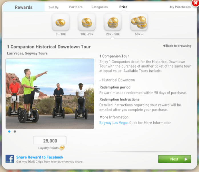 How to Redeem FREE Vegas Rewards with myVEGAS App Loyalty Points Rewards
