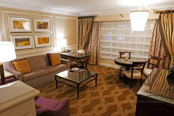 Hotel Review: The Venetian Las Vegas Bella Suite Living Room