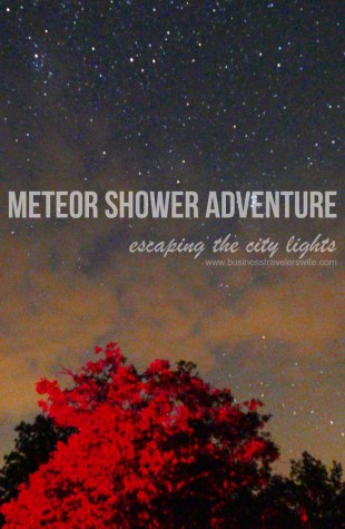 Crossing Off The Bucket List: Meteor Shower (Adventure and Tips) Torrance Barrens Dark-Sky Preserve Meteor Shower Adventure Road Trip