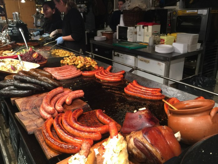 10 Must-Visit Christmas Markets Around the World for Foodies Budapest Christmas Fair Grilled Sausages meat 2