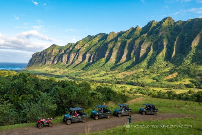 ATV Tour in Kualoa Ranch Oahu Mountain Ridge View 4WD Multi-Passenger ATV