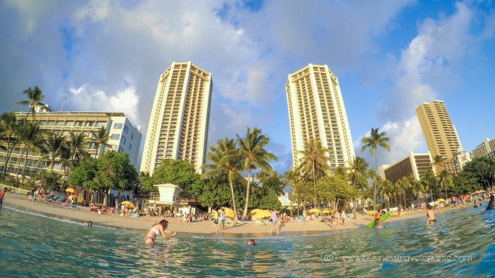 Countdown to New Year at Hawaii's Waikiki Beach