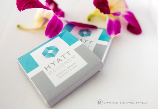 Hotel Review on Hyatt Regency Waikiki Beach Resort & Spa Honolulu Oahu Hawaii Welcome Amenities Chocolates