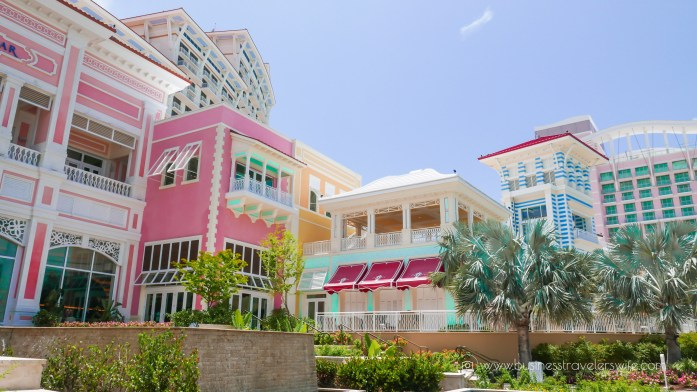 Grand Hyatt Baha Mar - A Grand Vacation in Nassau Bahamas colorful buildings